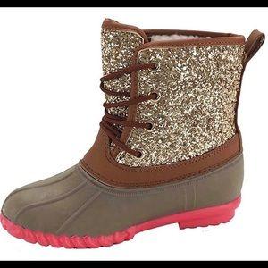Girls brand new sz 12 Glitter Duckboots